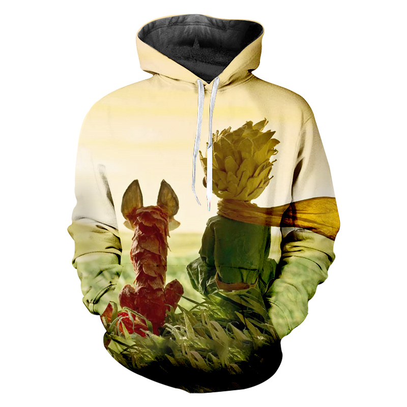 Bible Costumes The Little Prince 3D Print New Sweatshirt Men 39 s Funny Hoodies Man Hiphop Long Sleeve Pullover Tracksuits Boy Coat in Hoodies amp Sweatshirts from Men 39 s Clothing