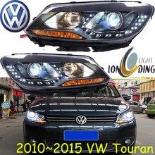 Touran headlight,2011~2015(Fit for LHD,RHD need add 200USD),Free ship!Touran fog light,2ps/se+2pcs Aozoom Ballast,touareg,Touran