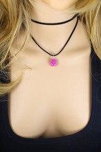 new European and American big velvet belt agate multi – layer Choker necklace