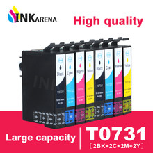 8 stks Voor Epson Cartridges 73N T0731 T0732 T0733 T0734 inkt Cartridge CX4905 CX3905 TX100 TX110 TX200 TX210 TX400 TX410 printer(China)