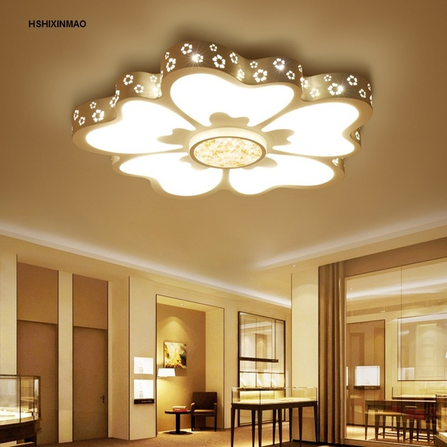15 Ultra Modern Ceiling Designs For Your Master Bedroom: Ultra Thin New Flower Style Living Room Ceiling Lamp