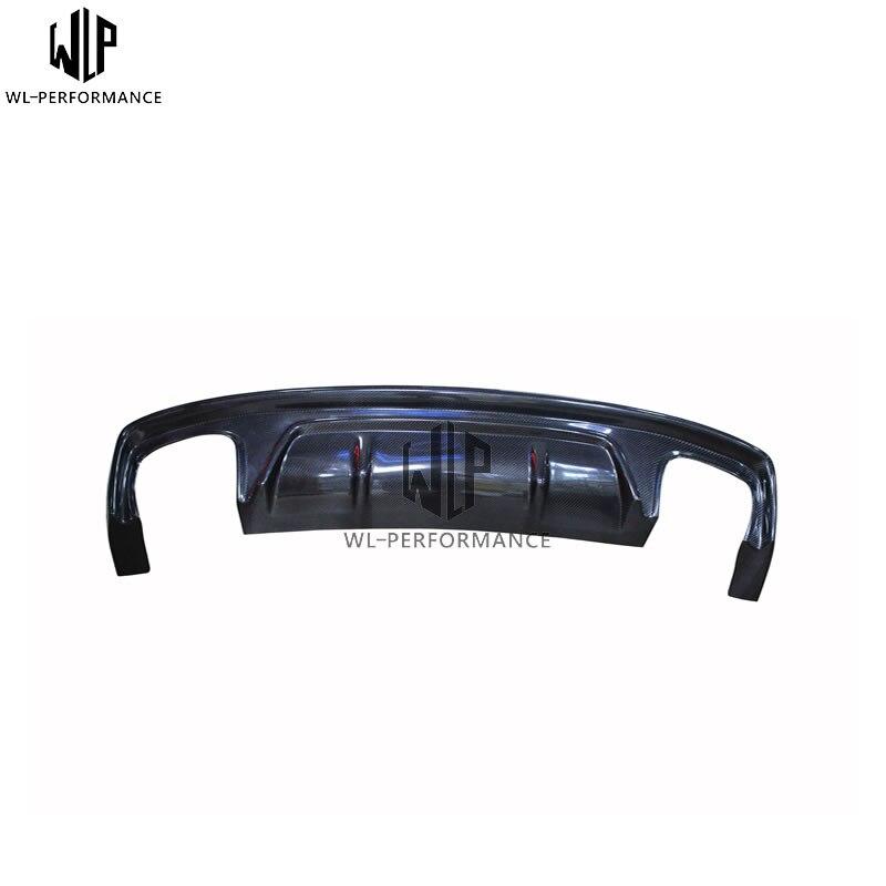 A4L couvercle de diffuseur arrière automatique de lèvre de pare-chocs arrière de voiture de Fiber de carbone adapté pour l'usage exclusif de voiture de sport d'audi A4L 13-UP