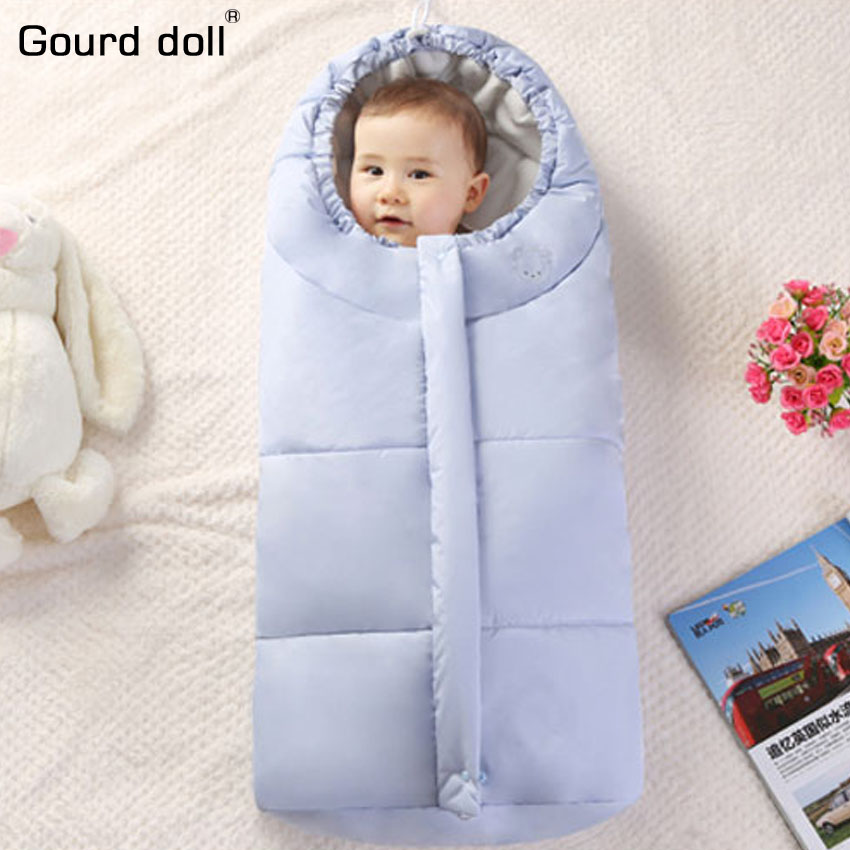 Newborn baby winter envelope Blanket Drawstring hoodie infant receiving Blanket soft velvet baby sleeping bag warm wrap swaddle