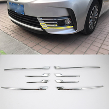 Car body kits front foglight cover trims Decoration Cover Trim 1pcs For TOYOTA VIOS 2017 ABS chrome car body kits front foglight trims car sticker for honda civic 2017 abs chrome