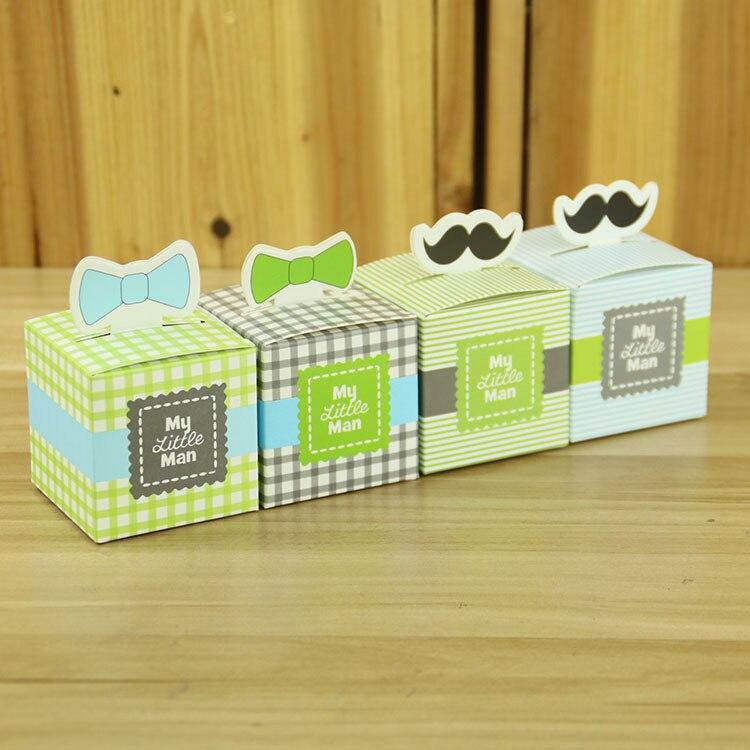 12pc My little Man Cute Mustache Sail Celebration Birthday Boy Baby Shower Favor Boxes Gift Box Baptism Party Souvenirs