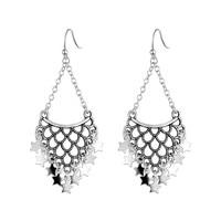 ea1b0c27c552 VOJEFEN 925 Sterling Silver Bohemian Coin Dangle Chandelier Earrings  Lightweight Gypsy Filigree Hoops With Disc Charms