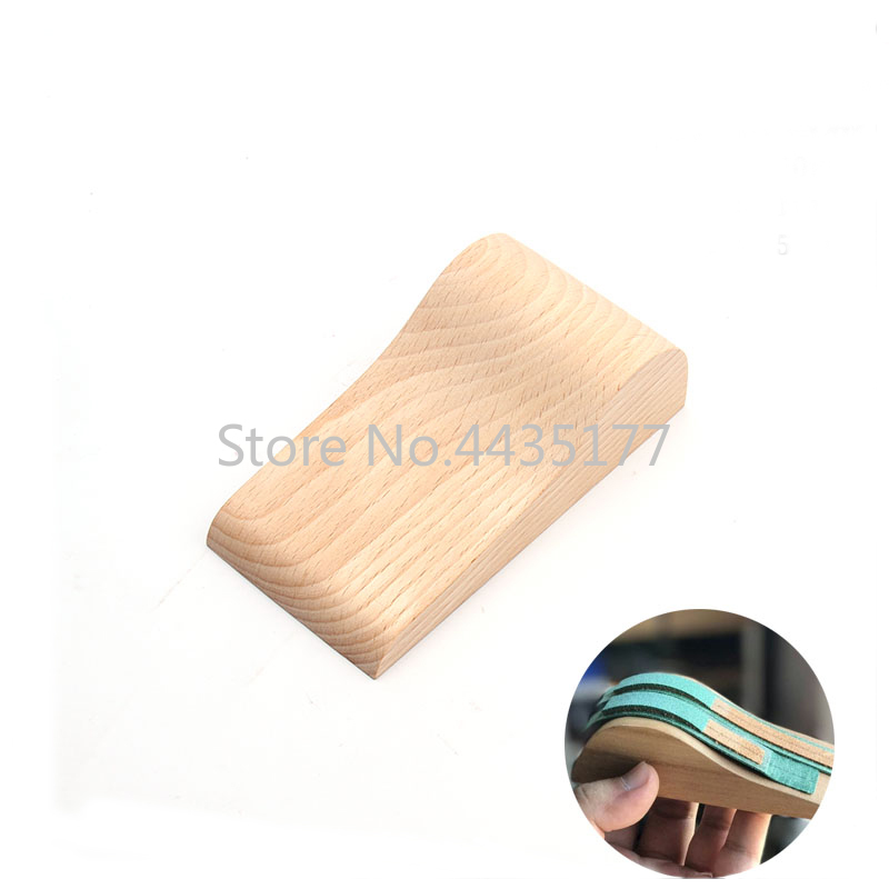 Beech Wood Folding Molding Tool For DIY Handmade Watch Belt Leather Strap Bending Leathercraft Tool 120x61x35mm