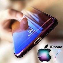 Baseus Originality For iPhone 7 Case luxury Aurora Gradient Color Transparent Case For iPhone 6s 6
