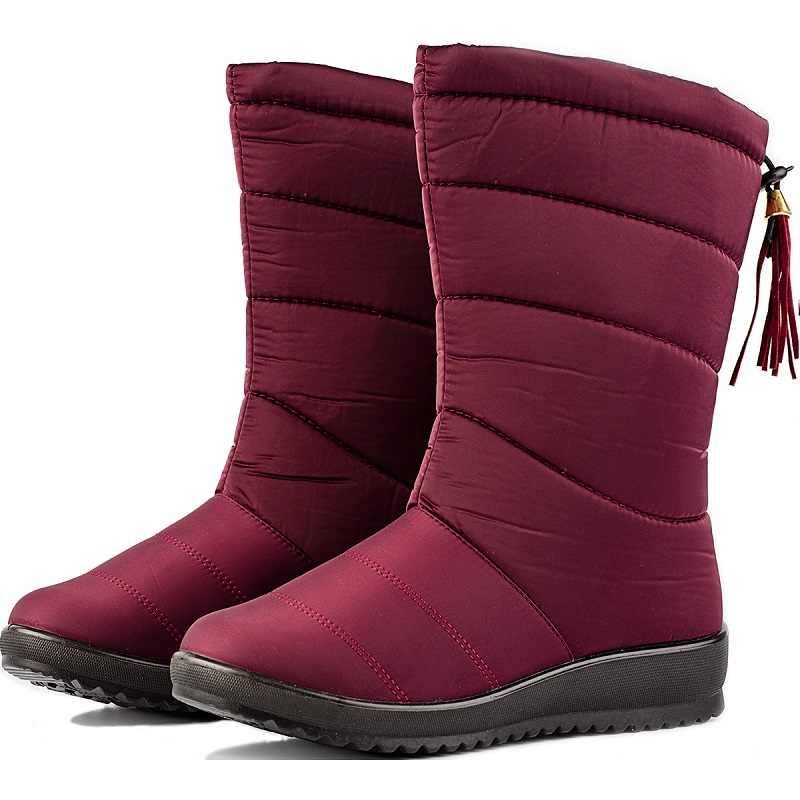 Designer Frauen Knöchel Schnee Stiefel Weibliche Unten Plüsch Winter Hohe Stiefel Mädchen Fringe Wasserdichte Pelz Sapato Feminino