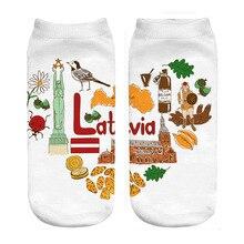 Латвийские носки с принтом «любовь»; Прямая поставка