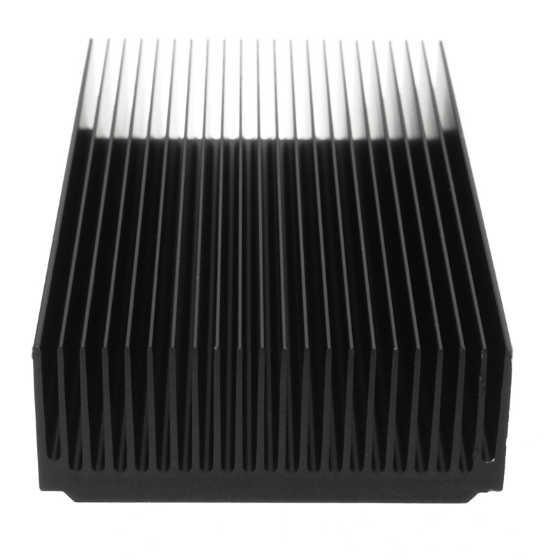 Cooling Accessories Aluminum Heat Sink Module Grille Shape Radiator 120 X69 X27MM Black Cooling Fin Heatsink For IC LED Power 1pc 22 tooth black oxide aluminum heatsink module mayitr durable heat sink radiation tool 120 69 27mm for electronic
