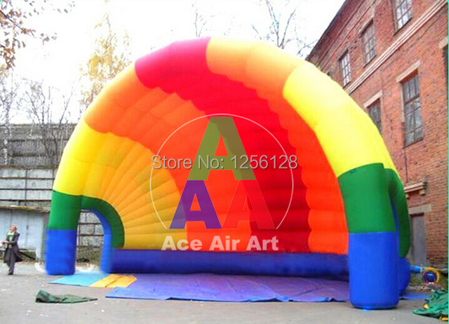 New Desgin Portable Colorful Half  Inflatable Dome Style Vango Inflatable Tent/ Inflatable booth for Exhibition
