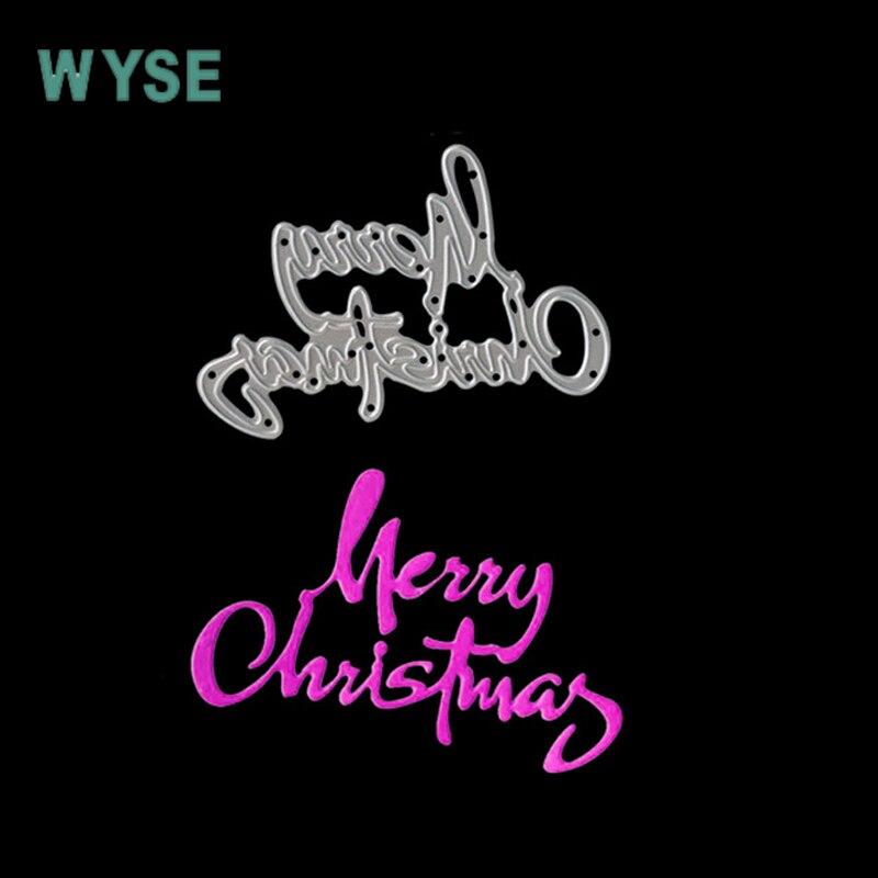 Metal Cutting Dies new 2017 Merry Christmas Dies letter Metal dies Craft dies for card making Photo Album Decorative Embossing