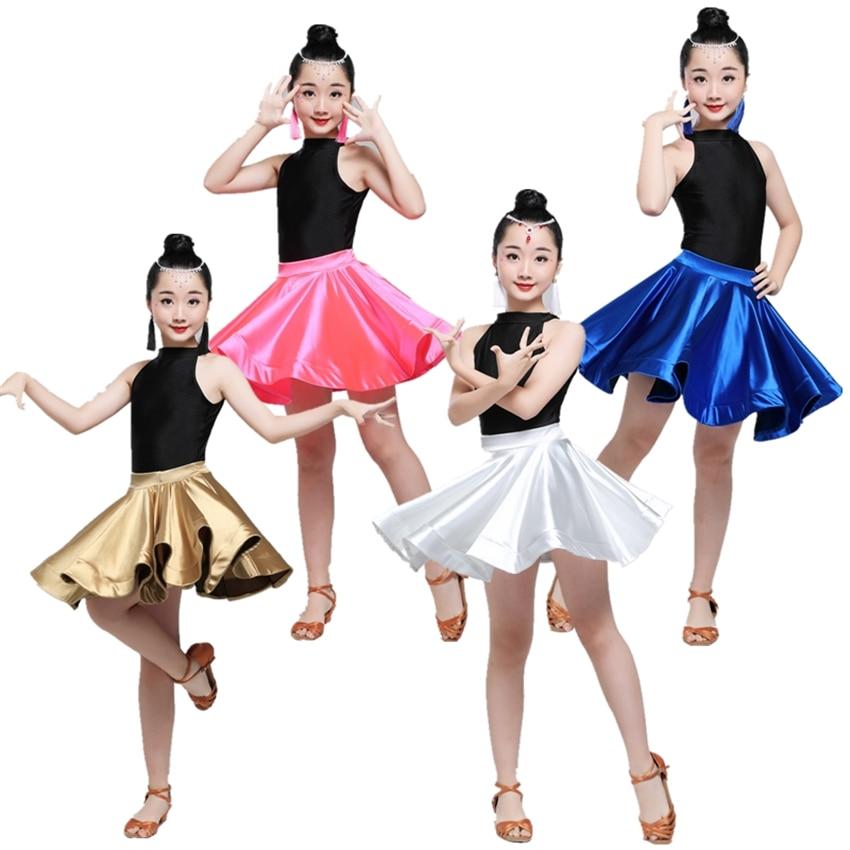 Girls Latin Dance Dress Salsa Tango Stage Performance Costumes Children Sexy Samba Cha Cha Competition Dancing Clothing