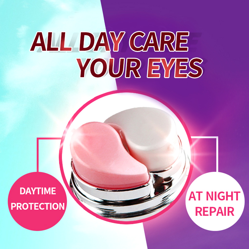 LAIKOU 20g Day Night Eye Cream Nursing Elastic Creams Prevent Moisturizing Anti Aging Smooth Repair Dry Skin Makeup