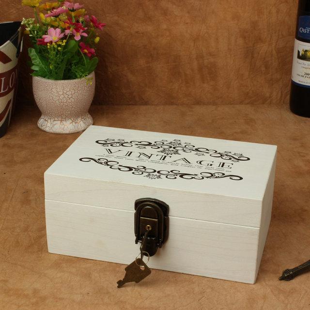 Online Shop Vintage Jewelry Box Jewelry Organizer Storage Case Wood