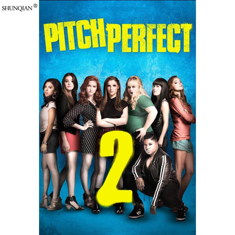 Pitch Perfect Poster Print Silk Fabric Print Poster Cloth Fabric Wall Poster Custom Satin Poster 40X60cm,50X75cm,60X90cm