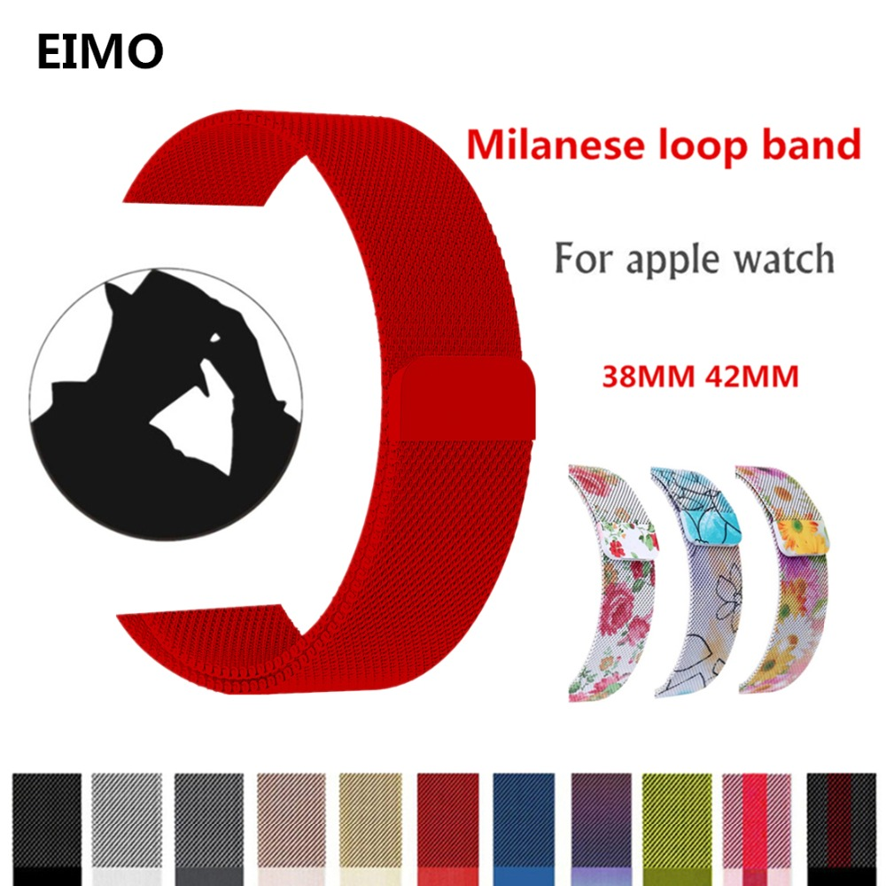 Milanese Loop For 38mm Apple Watch band strap 42mm iwatch series 3 2 1 Stainless Steel Link Bracelet watchband magnetic buckle цена