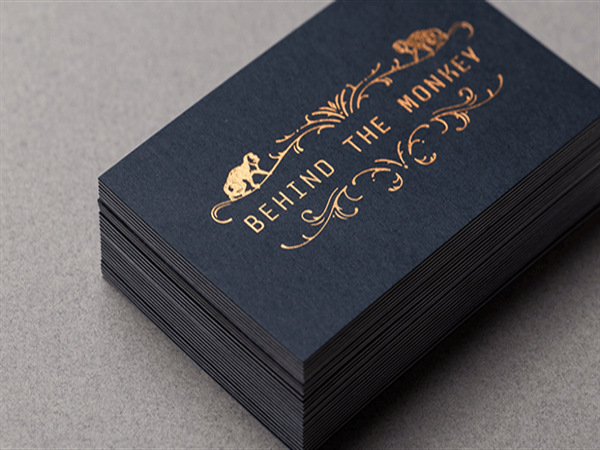 2016 luxury 600gsm cardboard custom gold foil business cards printing service visiting card design a4 paper - Business Card Printing Services