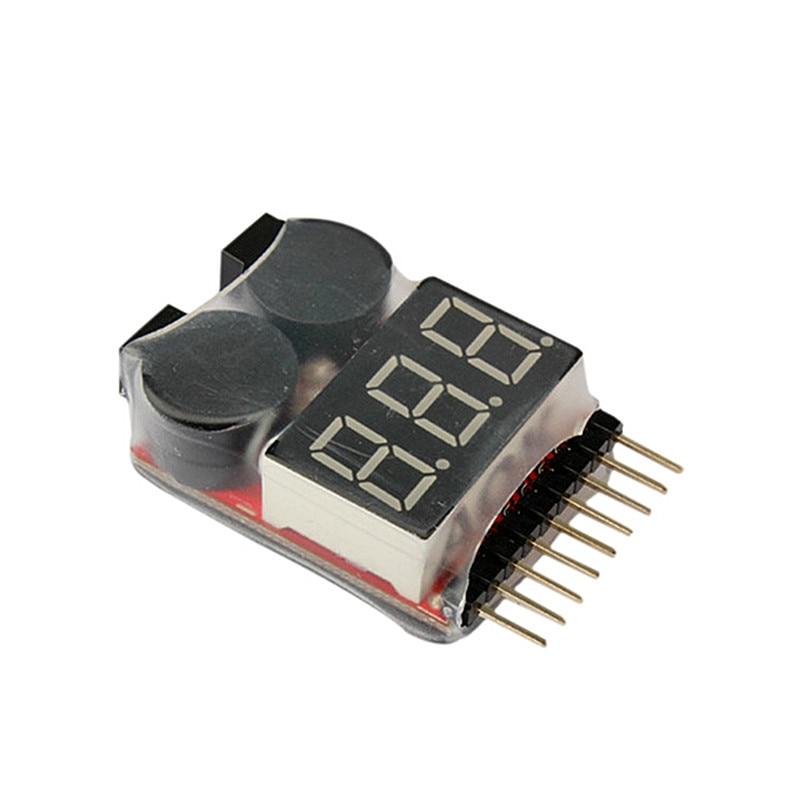 1-8S LED Lipo Voltage Indicator Checker Tester Low Voltage Buzzer Alarm NSV775