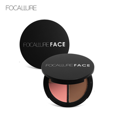 FOCALLURE Face 3 in 1 Palette bronzers and highlighters Makeup Blusher Shimmer Illuminator Contouring Cosmetics
