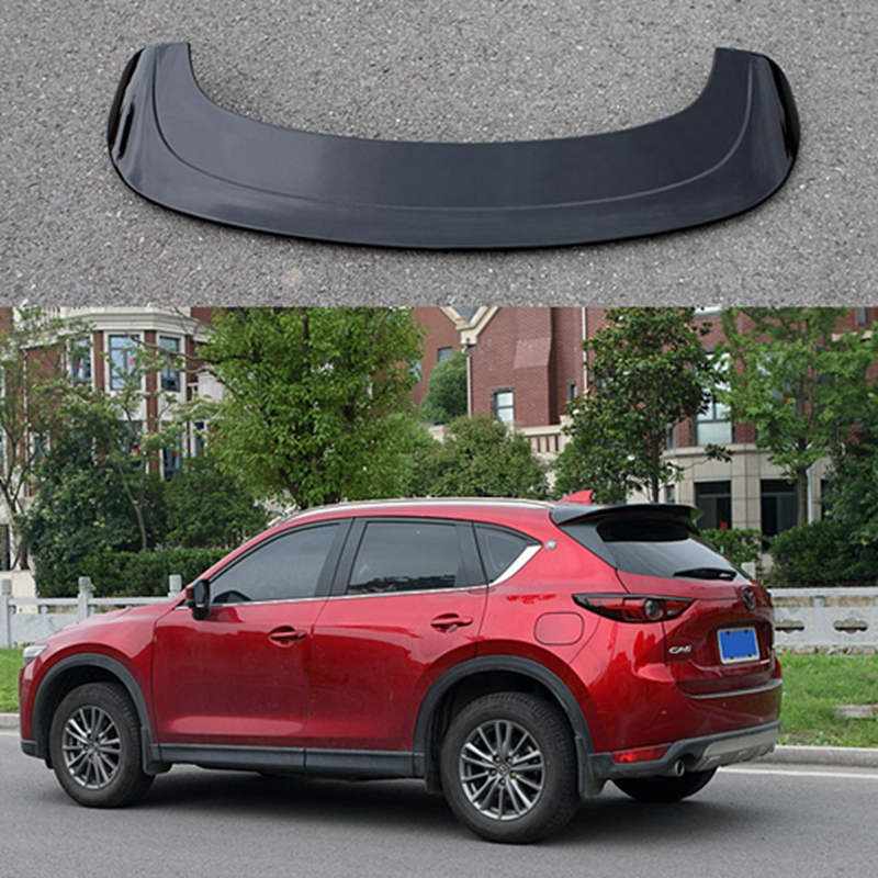 ABS plastic color rear roof spoiler tail luggage wing wing accessories for Mazda CX 5 CX5