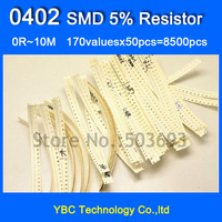 0402 SMD YAGEO Resistor 150valuesX 48pcs 7200pcs Resistor Samples Kit Free Shipping