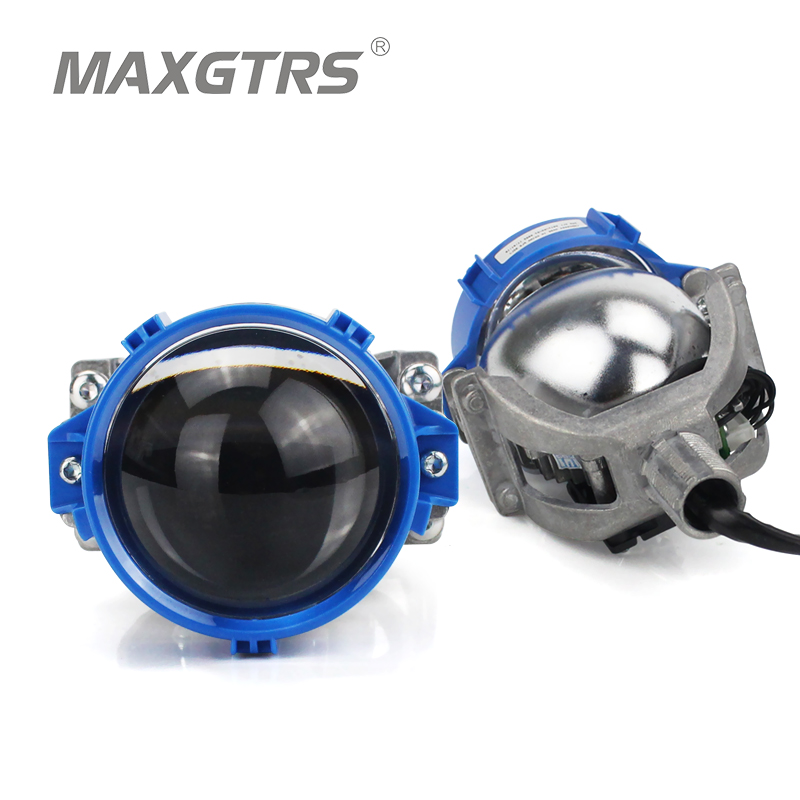 купить 2017 MAXGTRS 3.0 inch Super Bright Auto Bi LED Projector Lens 6000K Car High Low Beam Bi-LED Lens Headlight With Excellent Beam недорого