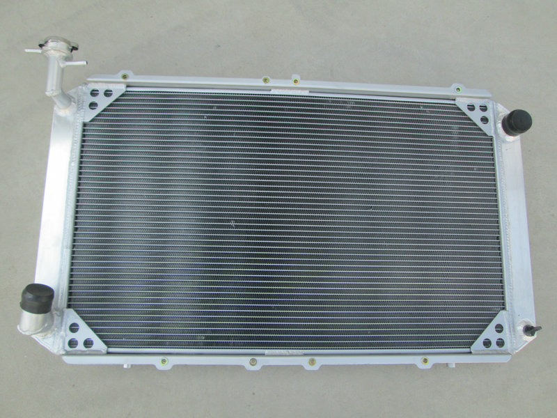 Auto Replacement Parts High Performance Aluminum Universal Radiator Kit For 3 Row Nissan Patrol Gq 2.8 4.2 Diesel Td42 &3.0 Petrol Y60 Lustrous Surface Oil Coolers