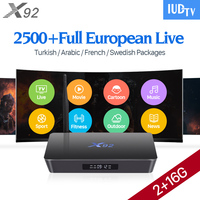 Octa Core X92 2g Ram Android Smart TV Box TV Receivers H 265 With 1 Year