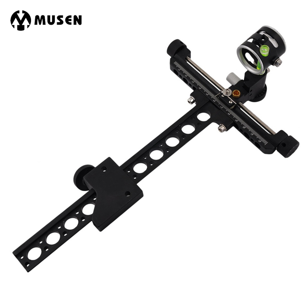 1 Pin Compound Bow Bow Sight Micro Adjust Long Pole for Hunting and Archery 1 pin 0 059 bow sight micro adjust long pole for archery hunting recurve bow