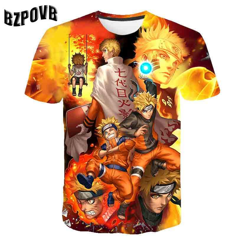 Shirt New Summer Casual Sports T-shirt (naruto) 3D Animated Character Design Clothing Short Sleeve T-shirt Fashion Men's T-shirt