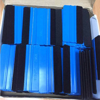 50 pieces Plastic Squeegee Vinyl Wrapping Tools Scraper Squeegee With Felt Edge Good Quality Wholesale Price Application