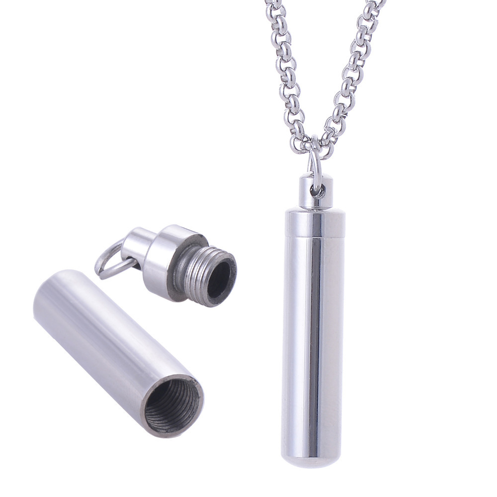 316l Stainless Steel Silver Wishing Bottle Cylinder