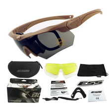 Airsoft Paintball Tactical Light Bulletproof Glasses Unisex Sport Goggles Wargame Shooting Sunglasses Black And Khaki