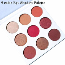 NEW Holiday Edition Kyshadow Bronze Burgundy Palette 9 Colors Kyshadow Cosmetics Matte Eyeshadow Palette Christmas gift