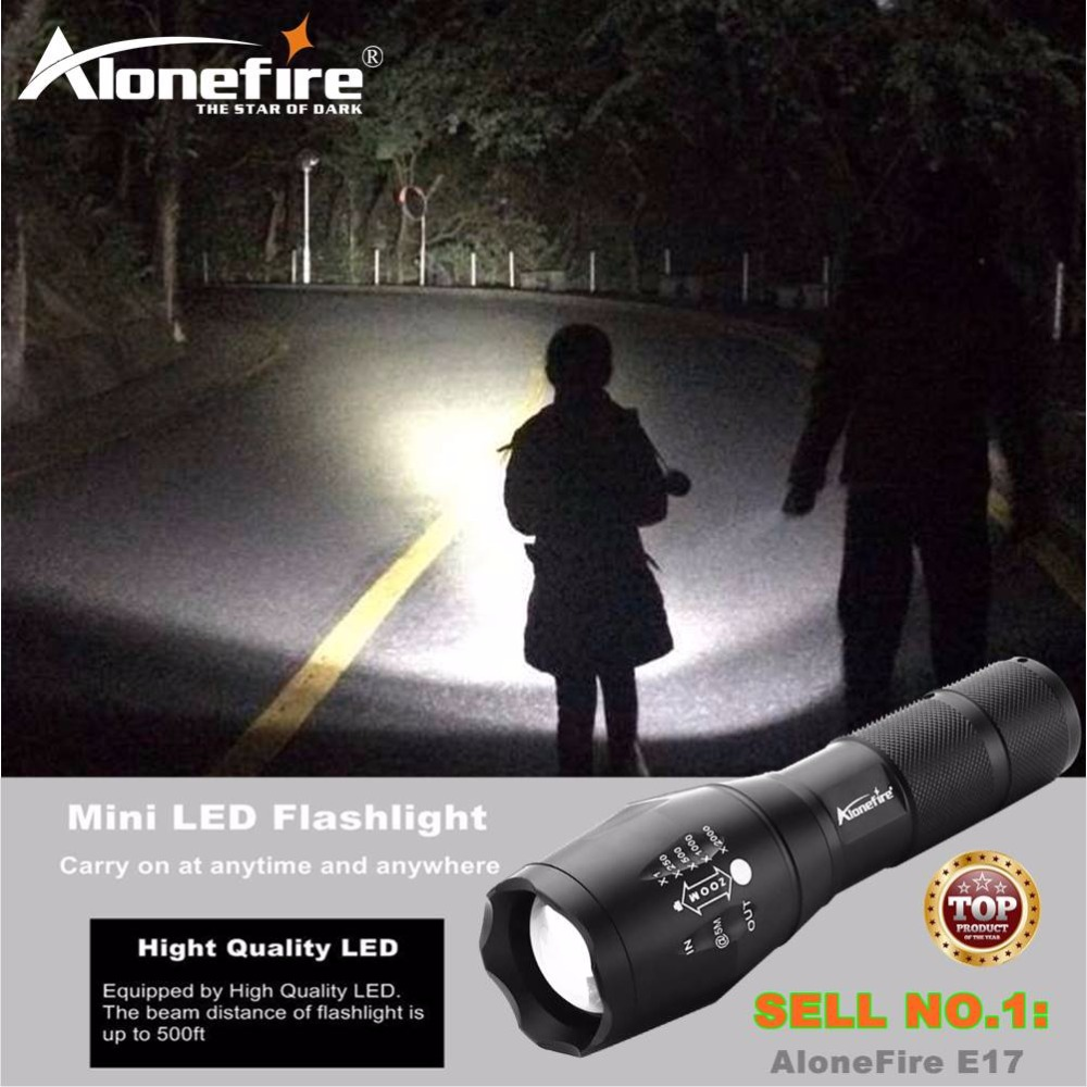 AloneFire E17 CREE XML T6  ZOOM LED Flashlight Torch Powerful XM-L Adjustable 18650 Flash Light Lamp Waterproof Tactical torch e17 cree xm l t6 2400lumens led flashlight torch adjustable led flashlight torch light flashlight torch rechargeable