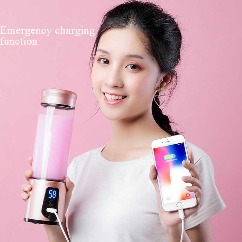 Portátil USB Milkshake de Extratores Juicer Frutas Espremedor Elétrico Liquidificador Mini Misturadores de Alimentos Multifuncional Garrafa Esportiva Copo de Sumo