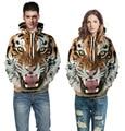Женщины Мужчины толстовки хип-хоп толстовка забавный 3D Тигр Лев мода марка плюс размер топы мужской костюм мужской Отдых пуловеры