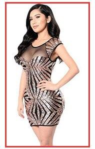 Liva Girl 2019 Black Gold Sequin Party Mini Dress For Women Summer ... 6a1b6b0c95ab