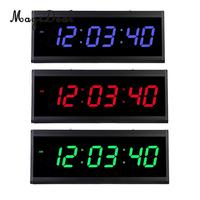 18inch Digital LED Screen Projection Alarm Clock Time with Indoor 24H Display Electronic Clock Watch EU Plug