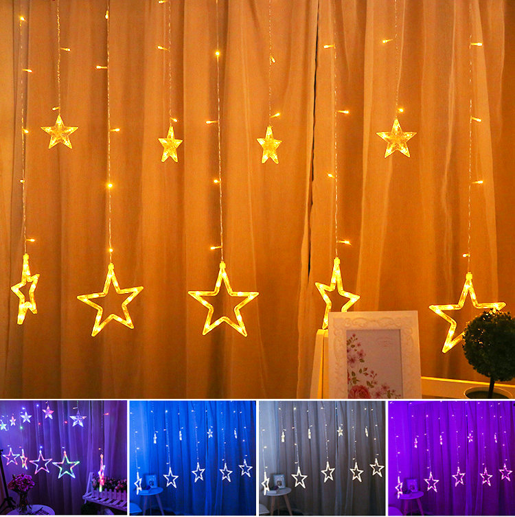 Curtain String Lights Battery Operated Curtain