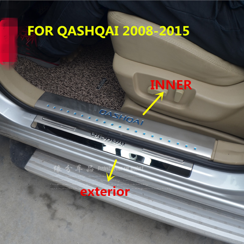 per Volkswagen Tiguan II 2017-2019 Soglia della Porta Protezioni Trim Pedali N//A 4pcs Battitacco Acciaio Inox Door Sill Scuff Plate