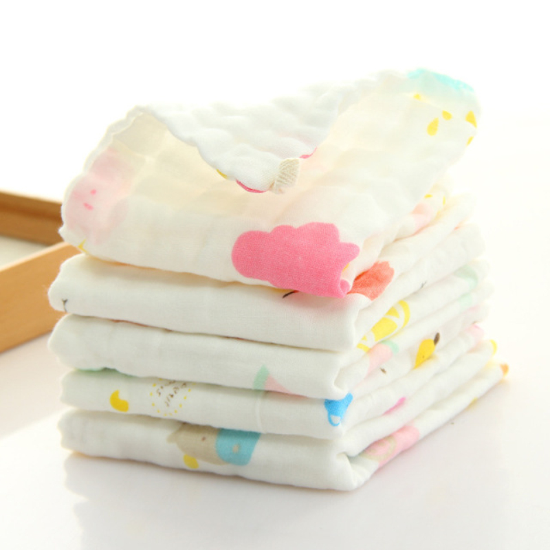 Infants Towels Gauze Kids Face Hand Bath Saliva Towel Baby Bibs Handkerchief 6A