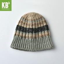 2017 KBB Spring KBBXmas Wool Children Women Men Yarn Knit Warm Striped Stitching Winter Hat Beanie