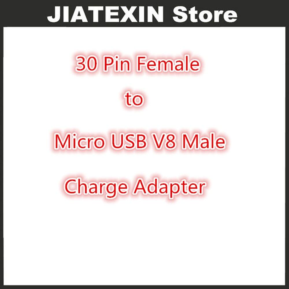 Groothandel 100 Stks/partij 30 Pin Vrouwelijke Micro USB V8 Mannelijke Lading Adapter Voor 30 P Kabel Voor Samsung Galaxy S2/S3/S4/Note 2