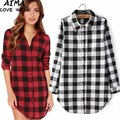 New Arrival Women Shirts Cotton Plaid Shirt Fashion Long-sleeve Lapel Female Casual Blouse Youthful Fashion Classic