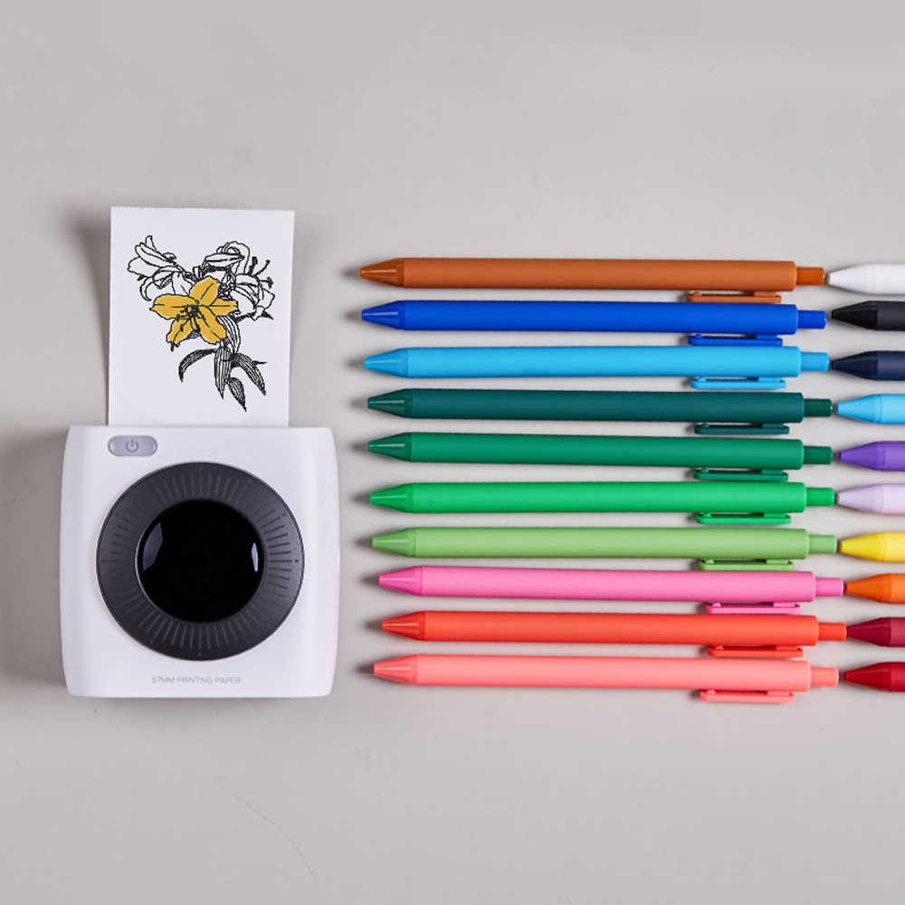 Paperang P2 ポケットポータブルbluetoothプリンタ写真画像hd熱ラベルプリンタと 1000 バッテリー 300dpi P2
