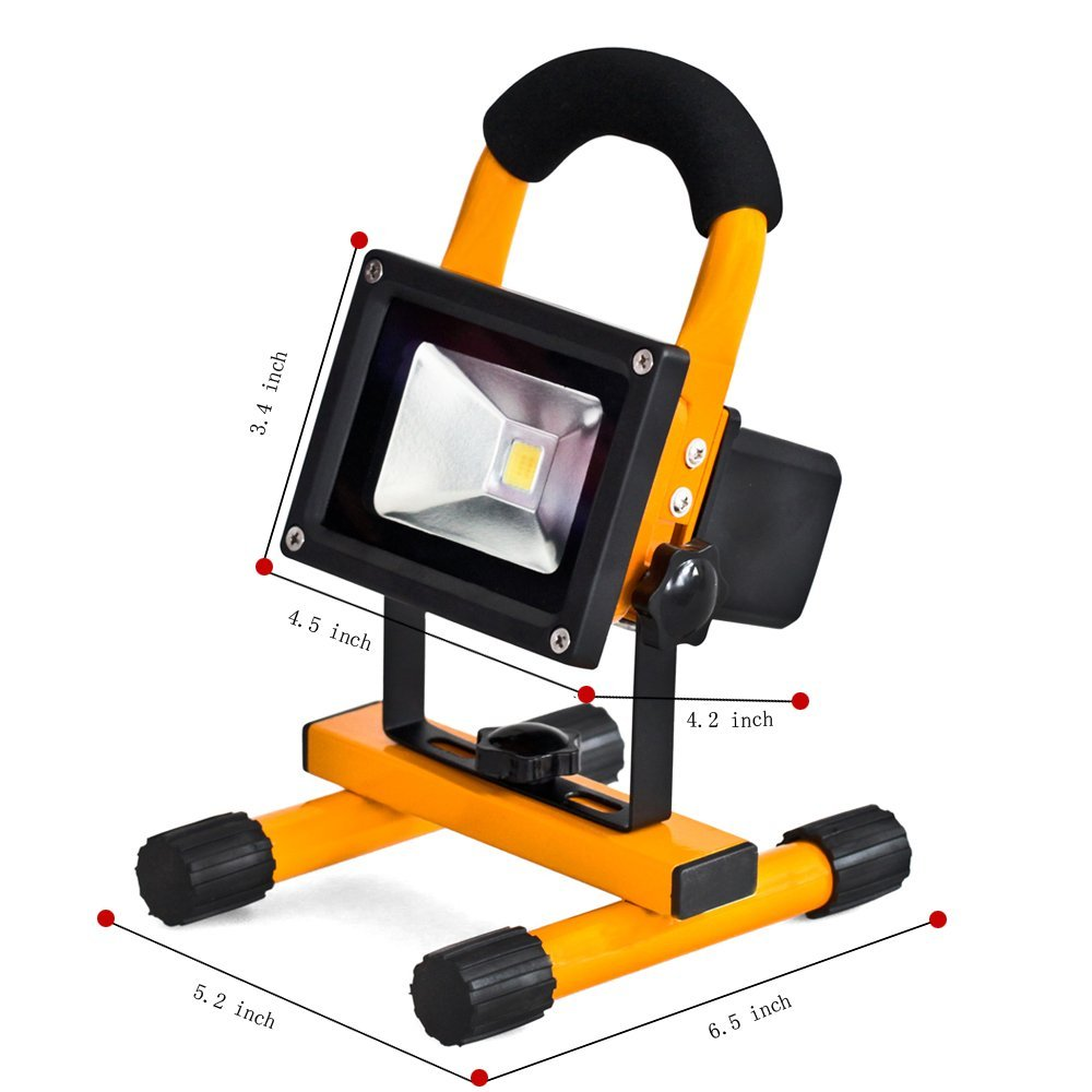 Купить с кэшбэком EU Emergency Spotlight Rechargeable Portable LED Lamp Outdoor Camping Mountaineering Outdoor Waterproof Flood Light 10W