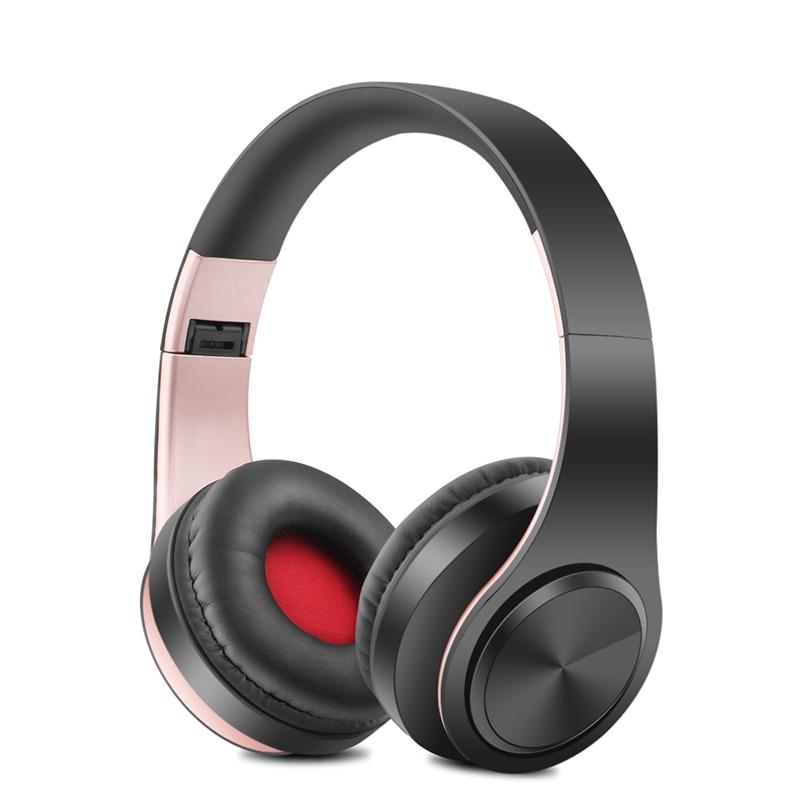Nuevo portátil auriculares inalámbricos Bluetooth Estéreo plegable auriculares de Audio Mp3 ajustable auriculares con micrófono para la música